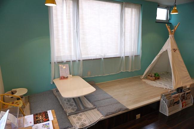 釧路 緑ヶ丘にあるcafe fika(かふぇ ふぃーか)にある小型テント