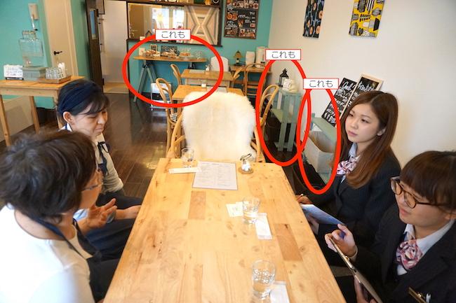 釧路 緑ヶ丘にあるcafe fika(かふぇ ふぃーか)のインテリア
