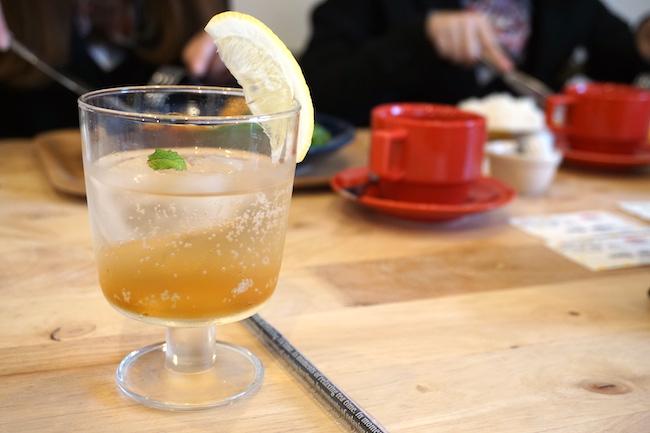 釧路 緑ヶ丘にあるcafe fika(かふぇ ふぃーか)の自家製ジンジャエール