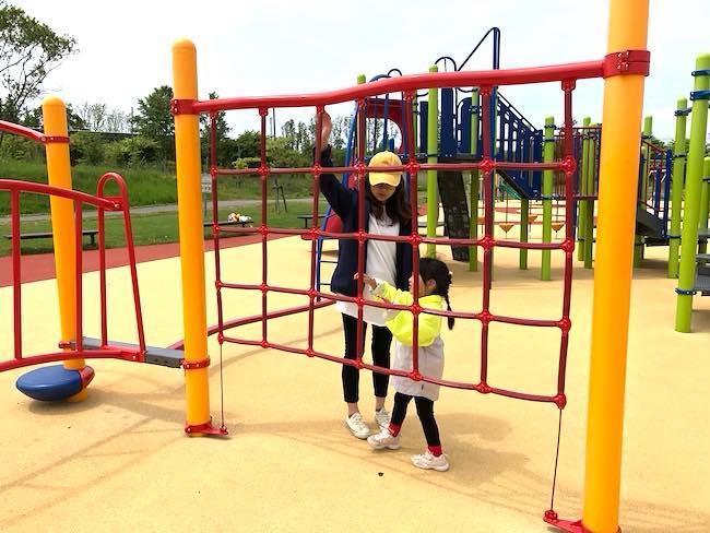釧路 緑ケ岡公園の大型遊具