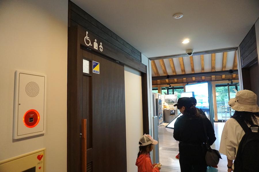 温根内ビジターセンターのトイレ