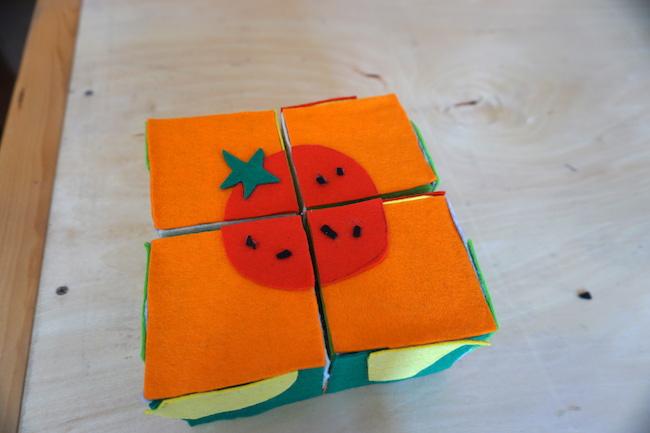 手作りの子ども向けおもちゃ サイコロパズルづくり